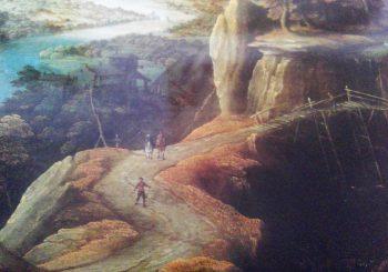 cover van catalogus 'panorama van de wereld' het landschap van Bosch tot Rubens